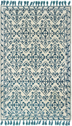 Oriental Weavers Madison 61408 Ivory - Blue Area Rug