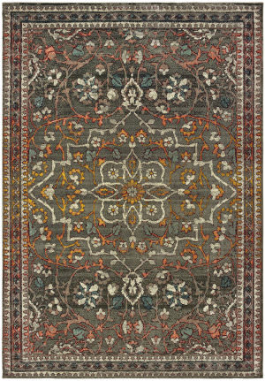 Oriental Weavers Mantra 4929e Grey - Gold Area Rug