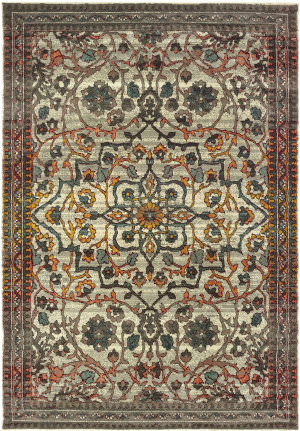 Oriental Weavers Mantra 4929h Ivory - Grey Area Rug