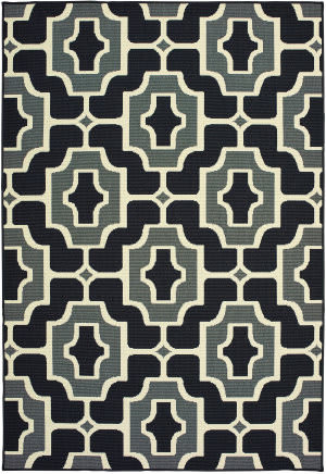 Oriental Weavers Marina 1491z Black - Grey Area Rug