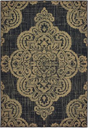 Oriental Weavers Marina 5929k Black - Tan Area Rug