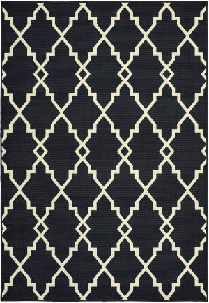 Oriental Weavers Marina 7763k Black - Ivory Area Rug