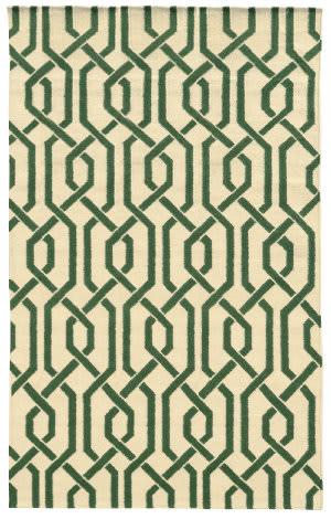 PANTONE UNIVERSE Matrix 4260j Ivory/ Green Area Rug