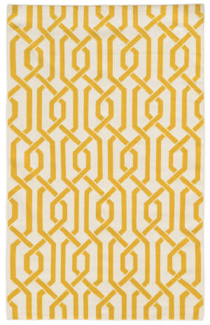 PANTONE UNIVERSE Matrix 4260l Ivory/ Yellow Area Rug