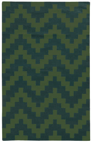 PANTONE UNIVERSE Matrix 4714l Green/ Blue Area Rug