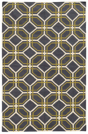 PANTONE UNIVERSE Matrix 4722e Grey/ Ivory Area Rug