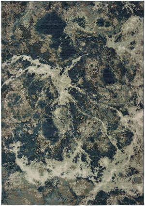 Oriental Weavers Montage 001pe Grey - Blue Area Rug