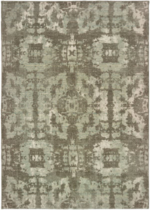 Oriental Weavers Montage 4928e Grey - Green Area Rug