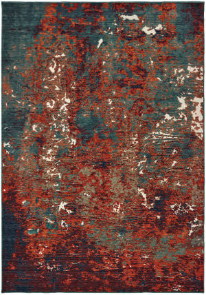 Oriental Weavers Montage 5502c Blue - Red Area Rug