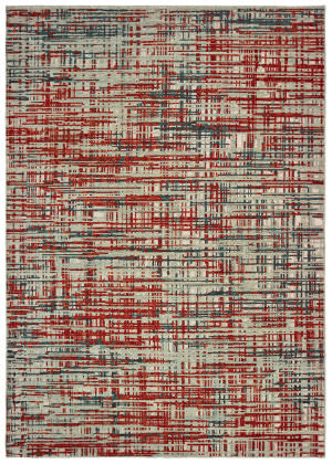 Oriental Weavers Montage 5503x Grey - Red Area Rug