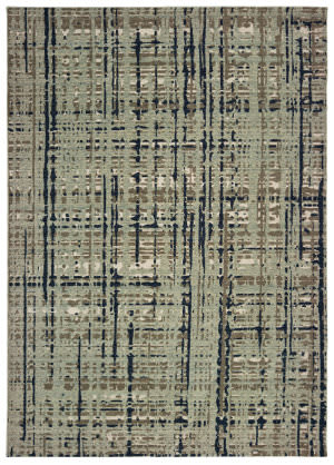 Oriental Weavers Montage 8020b Blue - Tan Area Rug