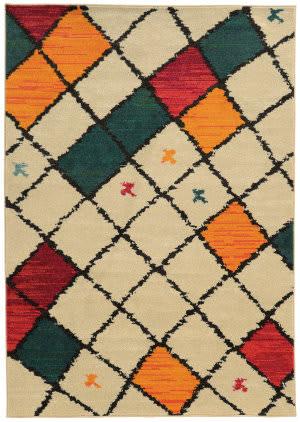 Oriental Weavers Nomad 567w5 Ivory / Multi Area Rug