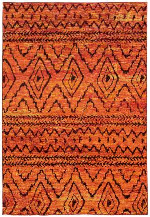 Oriental Weavers Nomad 8122o Orange / Red Area Rug