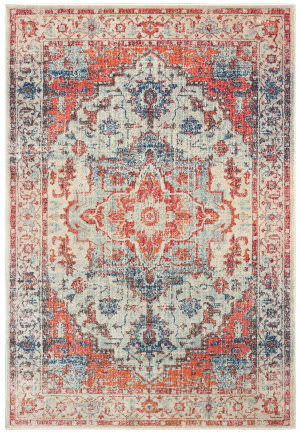Oriental Weavers Pandora 070w7 Blue - Orange Area Rug