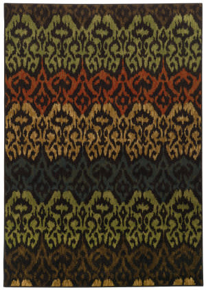Oriental Weavers Parker 5341f Black / Multi Area Rug