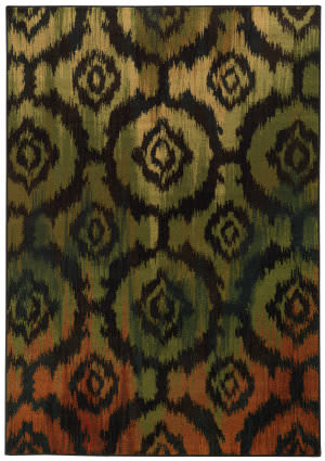 Oriental Weavers Parker 5601b Black / Green Area Rug