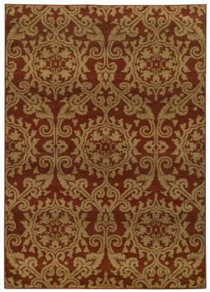 Oriental Weavers Parker 5840b Rust / Beige Area Rug