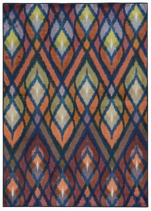 PANTONE UNIVERSE Prismatic 51557 Orange/ Blue Area Rug
