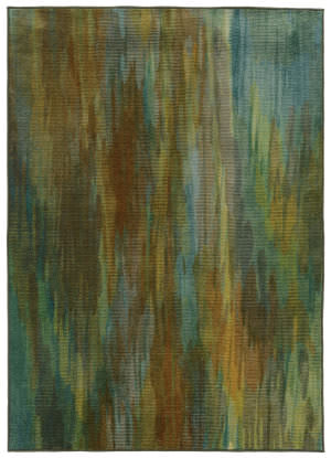 PANTONE UNIVERSE Prismatic 73158 Green/ Blue Area Rug
