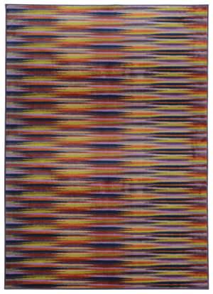 PANTONE UNIVERSE Prismatic 75310 Lavender/ Red Area Rug