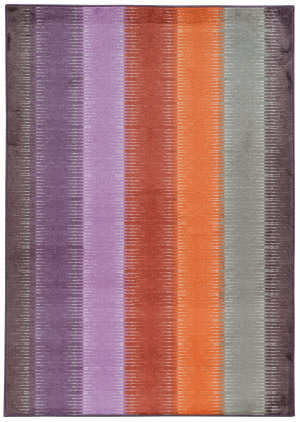 PANTONE UNIVERSE Prismatic 75315 Multi/ Red Area Rug