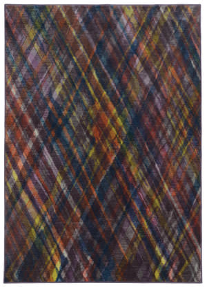 PANTONE UNIVERSE Prismatic 85103 Purple/ Green Area Rug