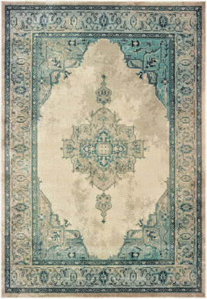 Oriental Weavers Raleigh 2337w Ivory - Blue Area Rug