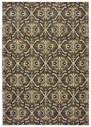 Oriental Weavers Raleigh 4927k Brown - Navy Area Rug