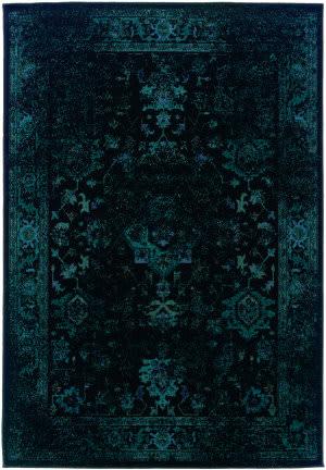 Oriental Weavers Revival 3689g Black Area Rug