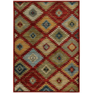 Oriental Weavers Sedona 5936d Red Area Rug