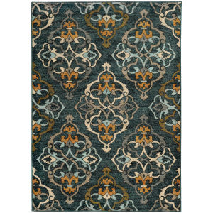 Oriental Weavers Sedona 6368b Blue Area Rug