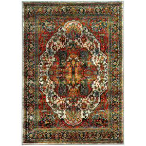 Oriental Weavers Sedona 6382b Red Area Rug