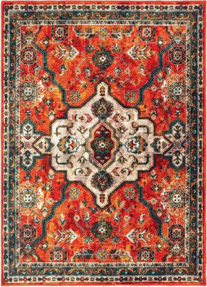 Oriental Weavers Sedona 9589a Orange - Blue Area Rug