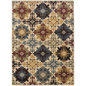 Oriental Weavers Stratton 6017a Ivory Area Rug