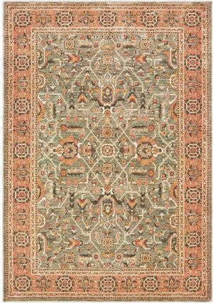 Oriental Weavers Toscana 9537b Blue - Orange Area Rug