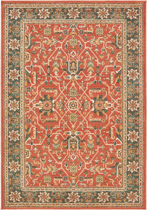 Oriental Weavers Toscana 9537c Orange - Blue Area Rug