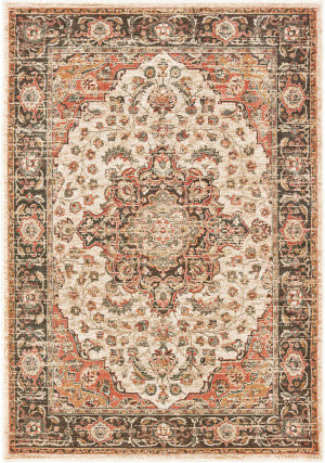 Oriental Weavers Toscana 9551a Ivory - Orange Area Rug