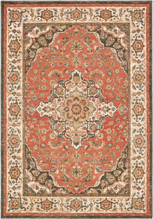 Oriental Weavers Toscana 9551b Orange - Ivory Area Rug