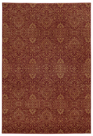 Tommy Bahama Voyage 091r0 Red Area Rug
