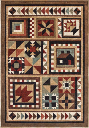 Oriental Weavers Woodlands 9596a Brown - Multi Area Rug