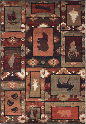 Oriental Weavers Woodlands 9601d Brown - Rust Area Rug