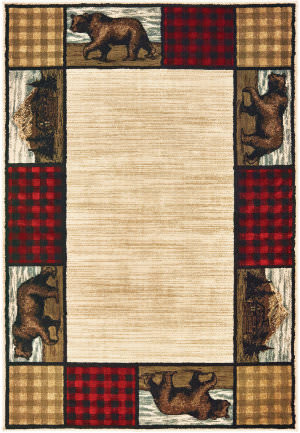 Oriental Weavers Woodlands 9603c Ivory - Multi Area Rug