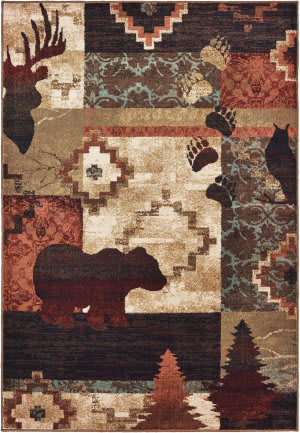 Oriental Weavers Woodlands 9649a Brown - Rust Area Rug