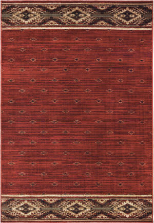 Oriental Weavers Woodlands 9652c Red - Gold Area Rug