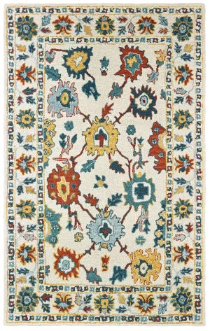 Oriental Weavers Zahra 75507 Ivory - Gold Area Rug