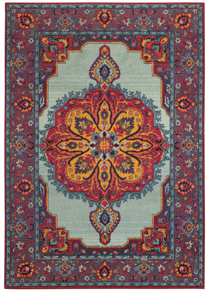 Oriental Weavers Bohemian 3339m Blue Purple Rug Studio