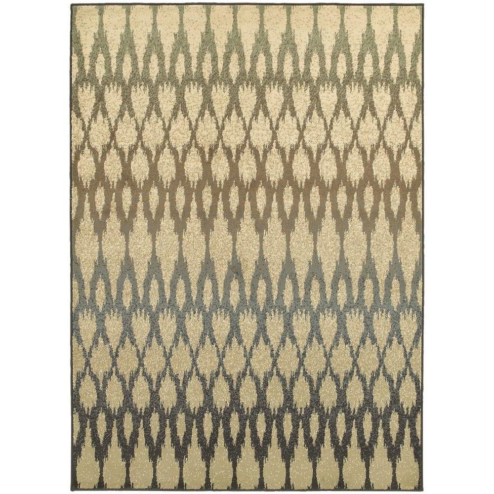 Oriental Weavers Brentwood 001h9 Ivory Blue Rug Studio