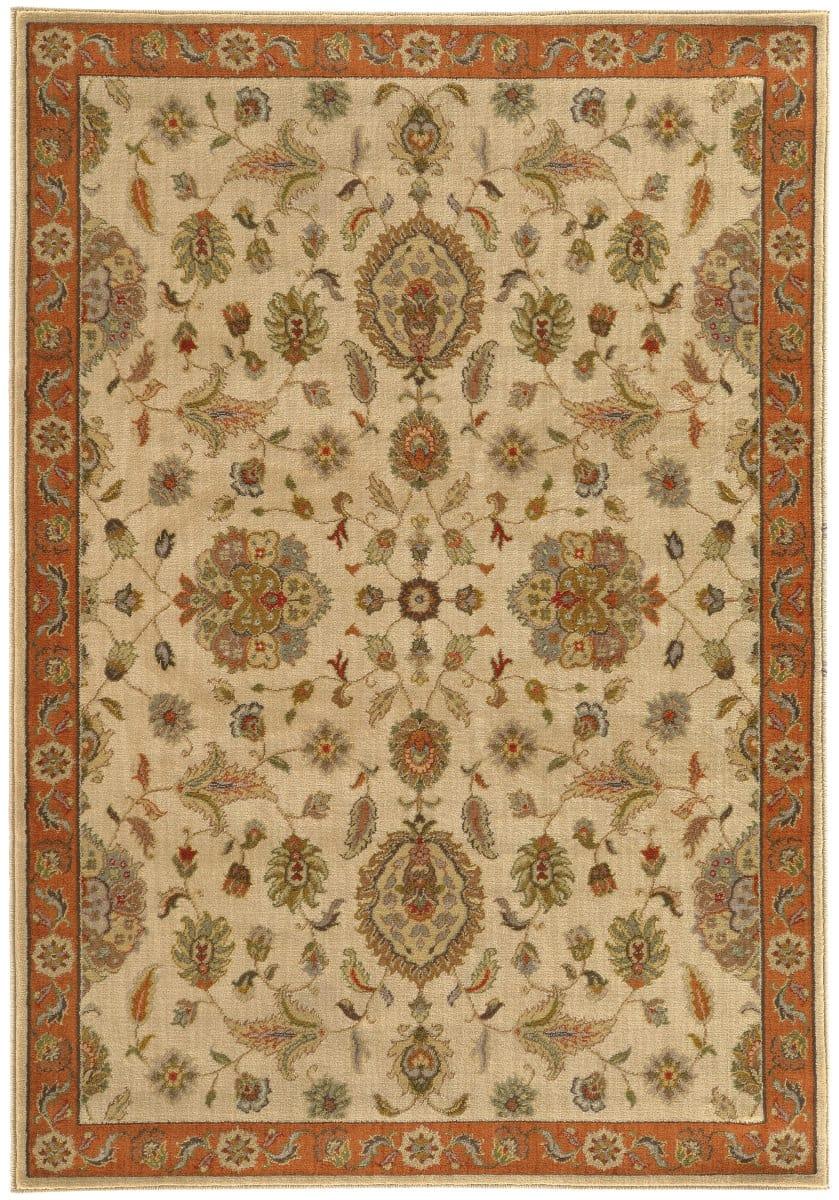 Oriental Weavers Casablanca 5317b Beige Rust Rug Studio