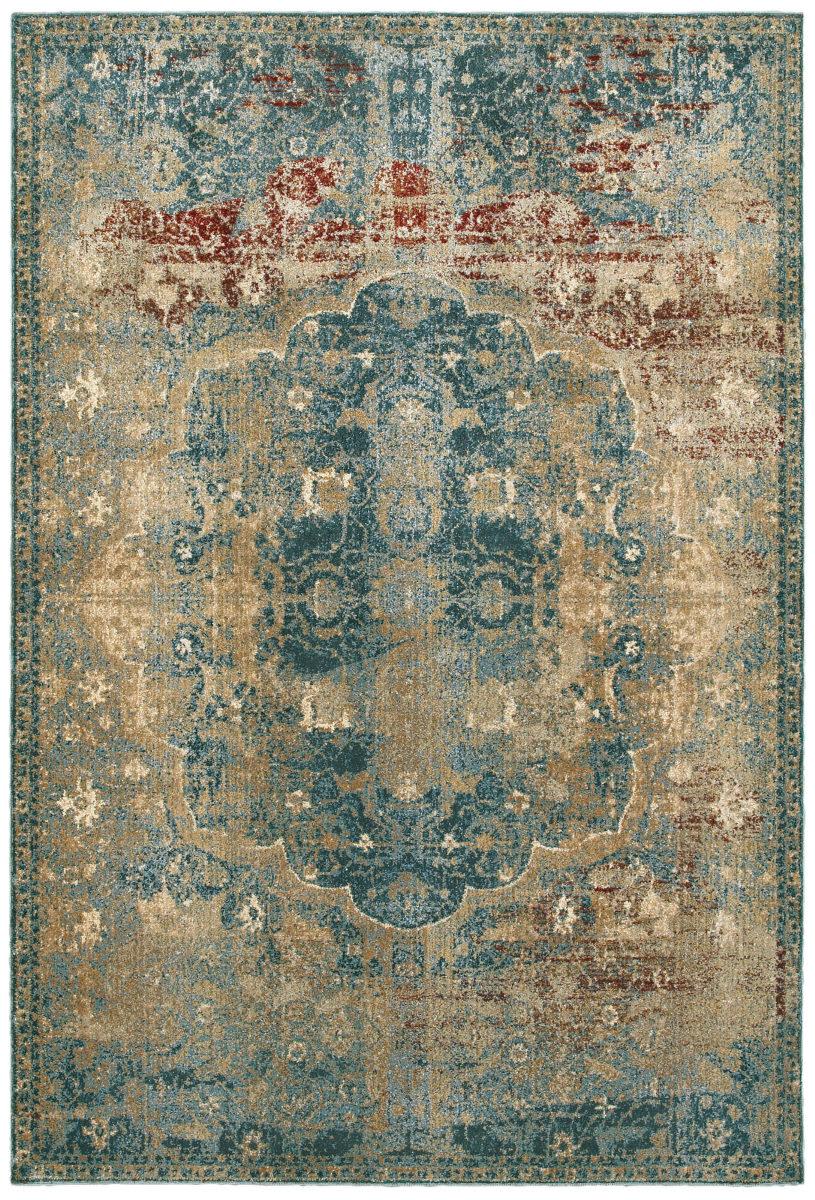 Oriental Weavers Empire 4449h Gold Blue Rug Studio