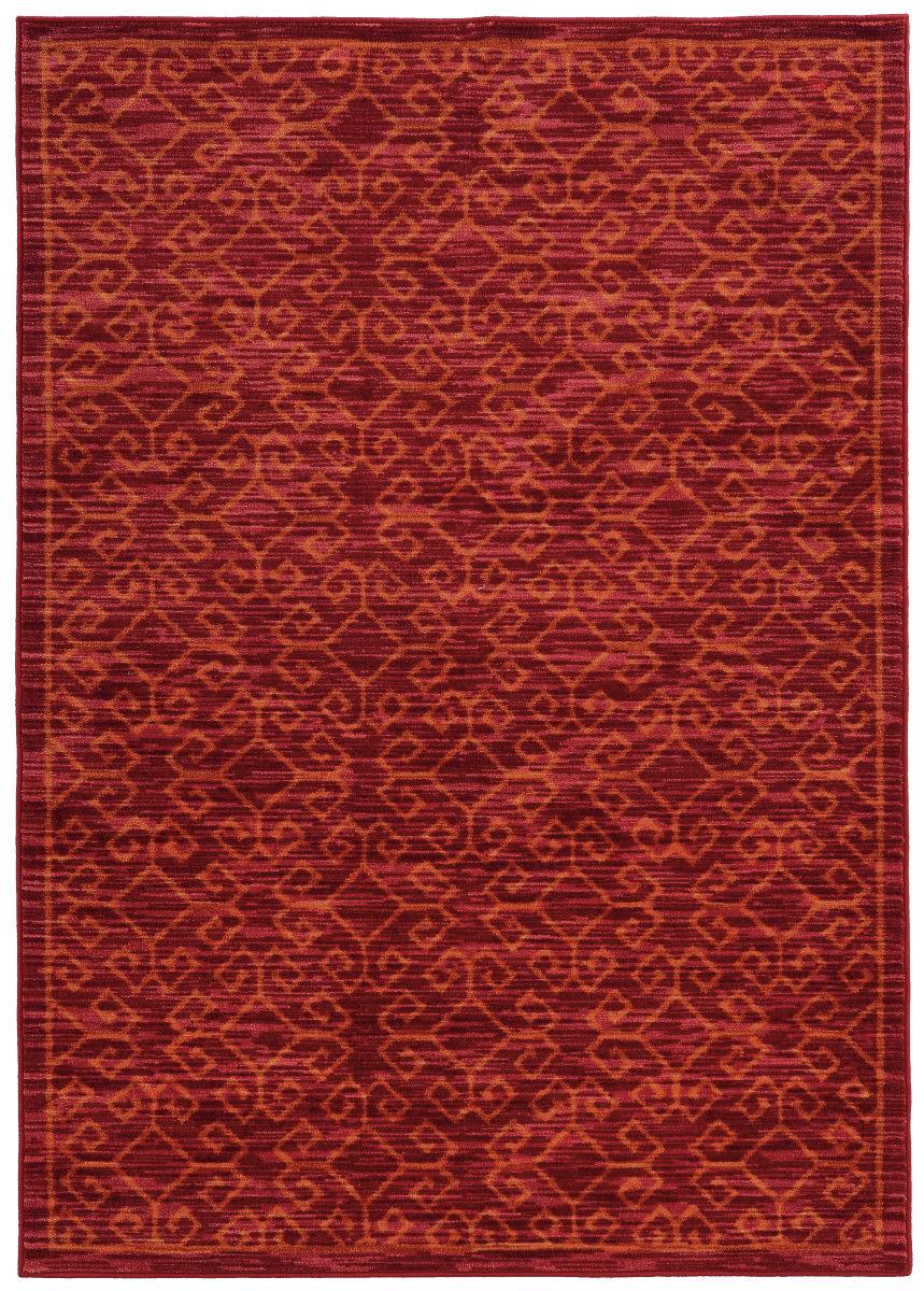 Oriental Weavers Harper 40249 Red Orange Clearance Rug Studio